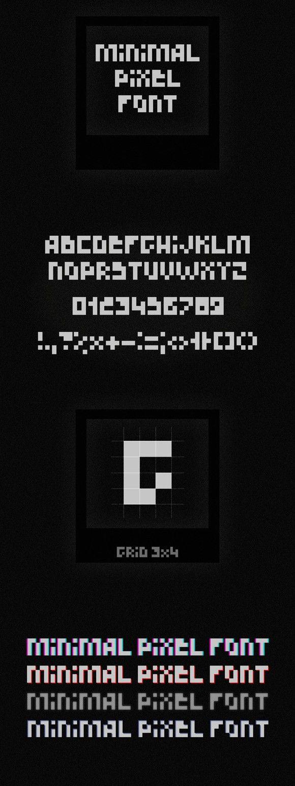Minimal Pixel Font. Sans Serif Fonts. $5.00