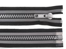 Plastic Zipper width 5 mm length 75 cm reflective