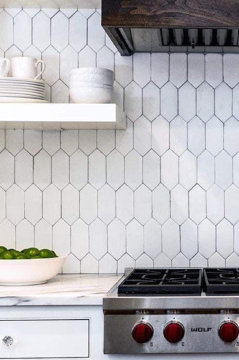 Move Over, Subway Tile: The Old World Material Making A Comeback. Hex TileHexagon  TilesKitchen Backsplash ...