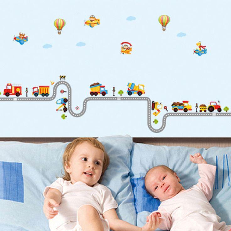 Gyerekszoba falmatricák fiúknak : Munkagépek, hőlégballonok falmatrica  #markoló #höllégballon #repülő #gyerekszobafalmatrica #falmatrica #gyerekszobadekoráció #gyerekszoba #matrica #faldekoráció #dekoráció