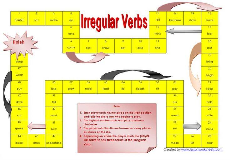 Goose Game Irregular Verbs
