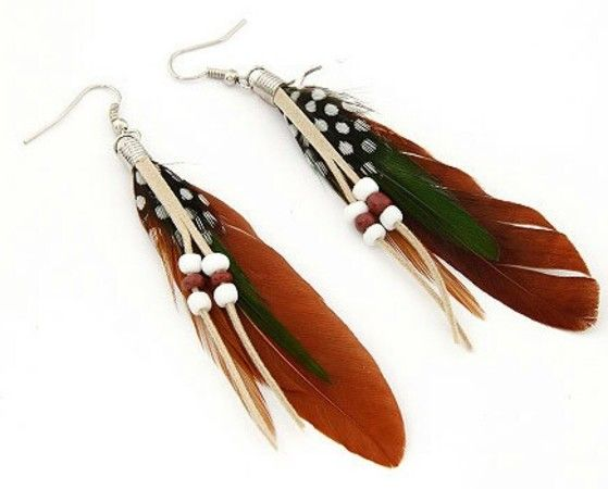 Shopo.in : Buy Brown Feather Earrings online at best price in Kolkata, India