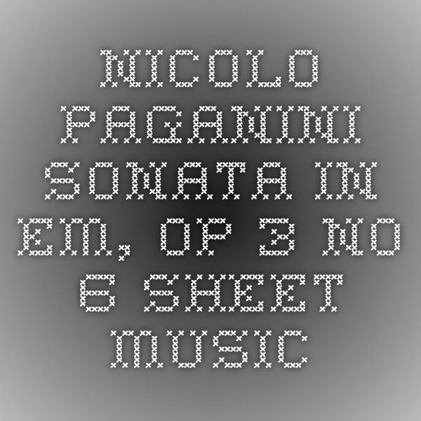 185 Best Images About Sheet Music On Pinterest: 28 Best Images About Nicolo Paganini On Pinterest