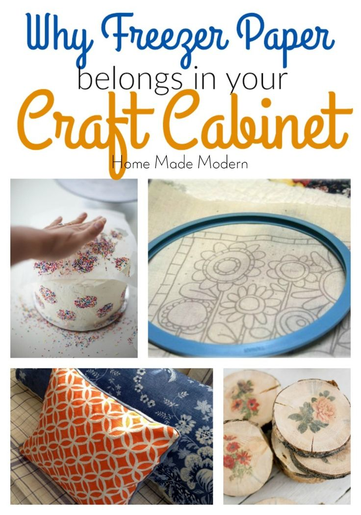 'Why Freezer Paper Should Be In Your Craft Cabinet...!' (via homemademodern.blogspot.com)