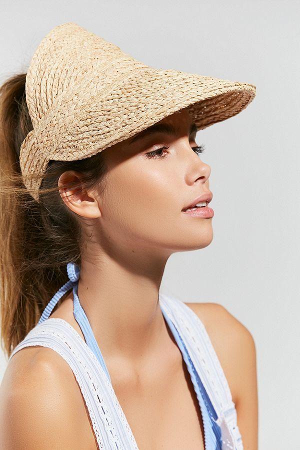 c70300e11b1352 Brixton Alexa Straw Visor   Accessorize   Straw visor, Hats, Brixton