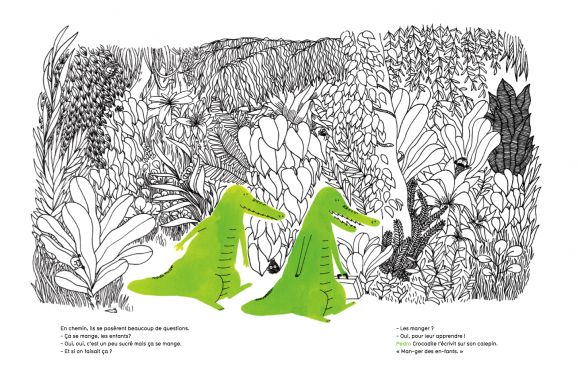 Pedro crocodile et George alligator « Editions Les Fourmis Rouges