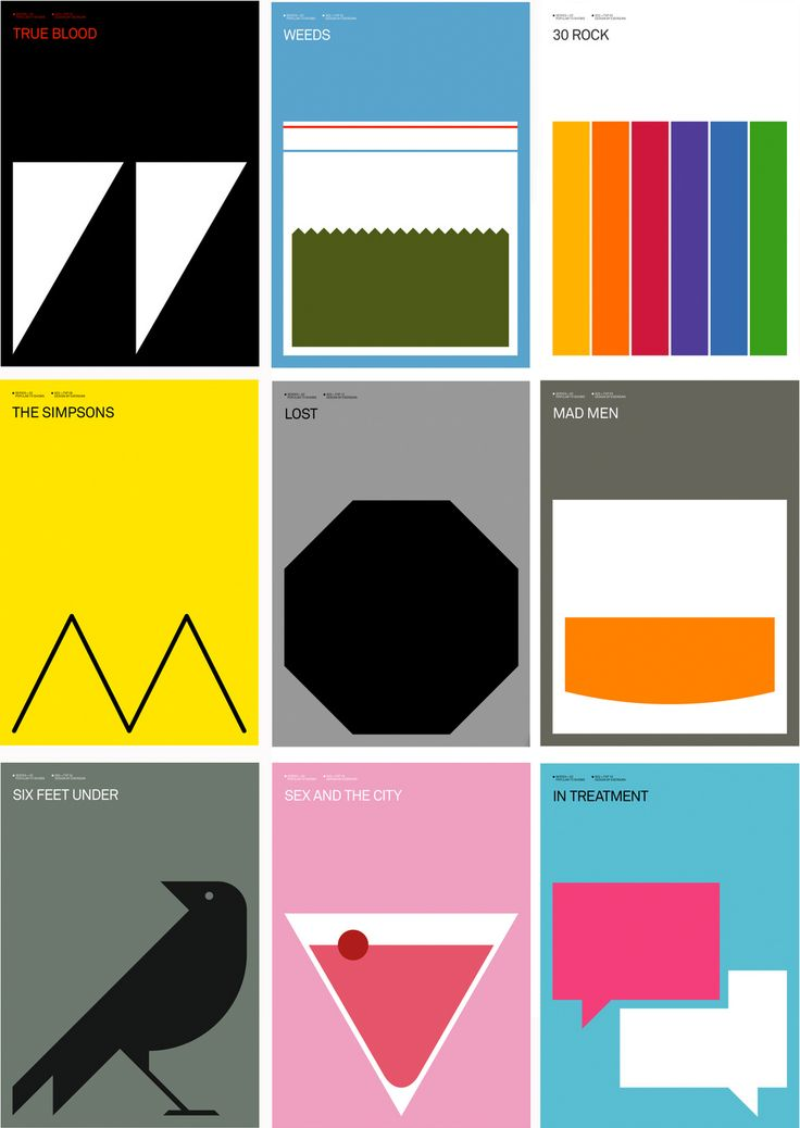 Alternate poster tv series identity inspiration for Artistes minimalistes