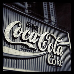 The Coca-Cola sign in Kings Cross, Sydney. An icon in so many ways. Enjoy Coca-Cola?