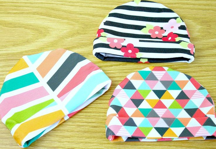 Simple jersey baby hat tutorial | The Spoonflower blog
