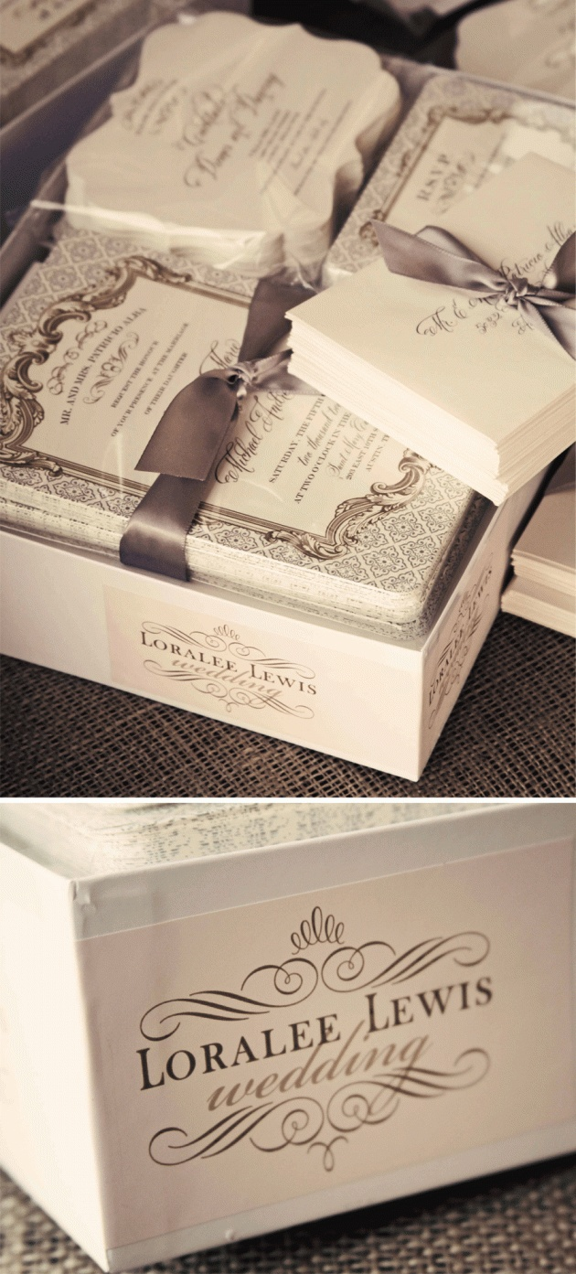 pretty vintage invitations