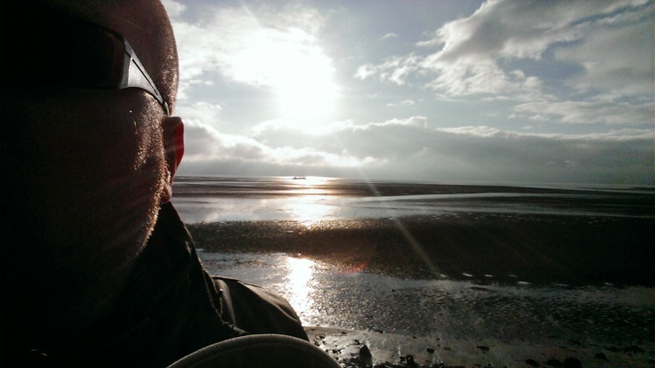 At my local beach on a very cold morning.