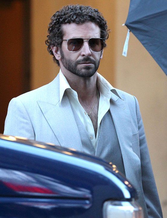 Bradley Cooper on the set of 'American Hustle'