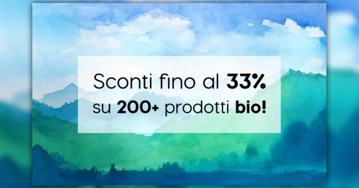 Sconti fino al 33% su oltre 200 prodotti naturali #bio! Integratori e prodotti alimentari, cosmesi biologica.