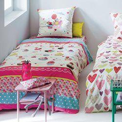 Parure de lit housse de couette fille, MY DELICIOUS CUPCAKE La Redoute Interieurs - Linge de lit enfant