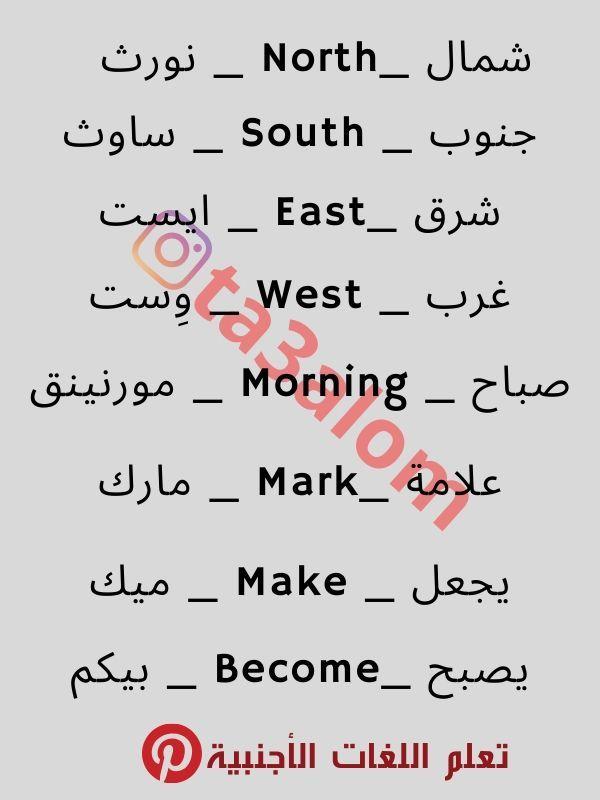 تعلم اللغة الإنجليزية للمبتدئين English Language Learning English Words Learn English