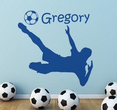 Sticker personnalisée footballeur