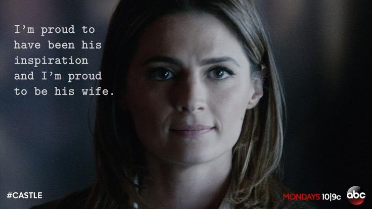 """""""And regarding my relationship with Mr. Castle, he has proven to be a brilliant partner, and he's always had my back. And as for his fictional representational of me…"""""""