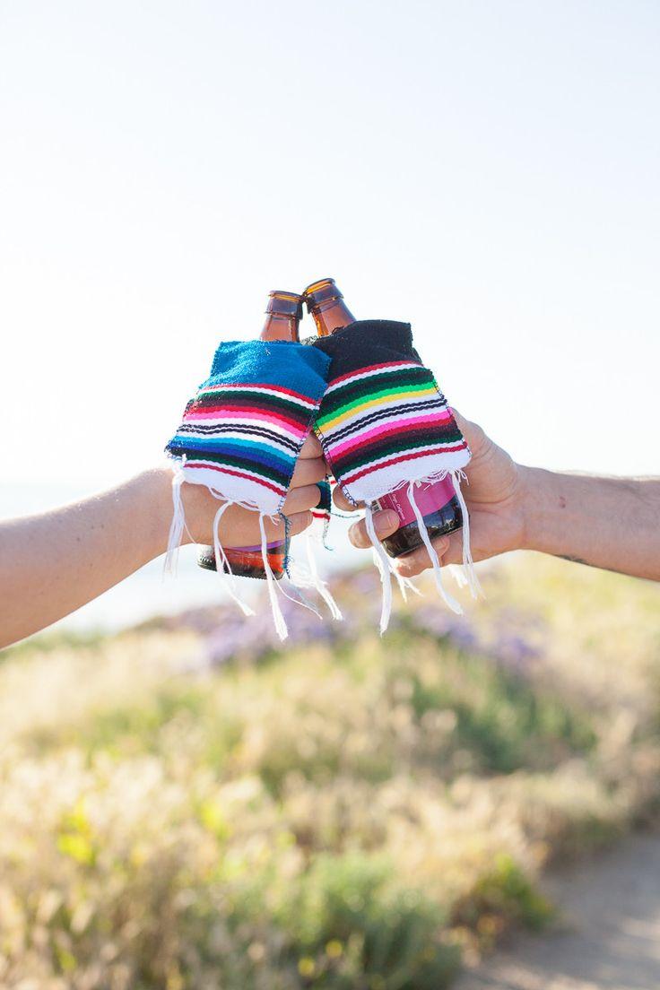 Poncho bottle koozie
