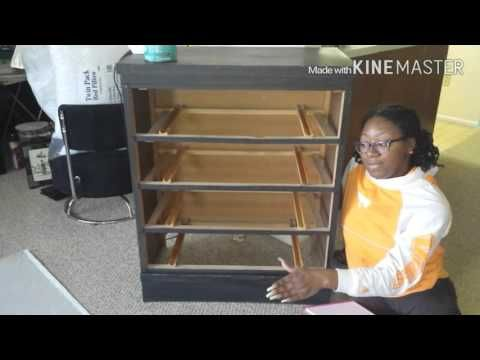 Bedroom Remodel: Fabric Covered Dresser - YouTube