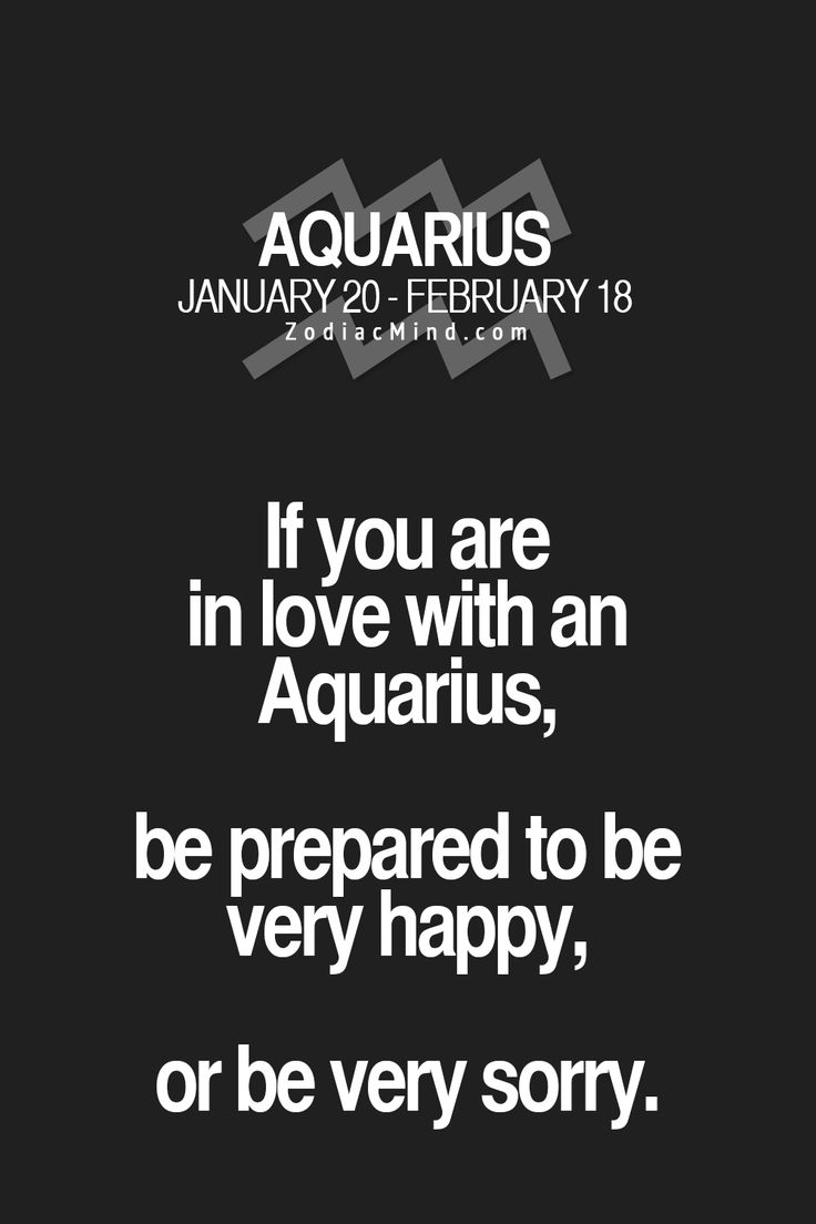 how to know when an aquarius man is in love