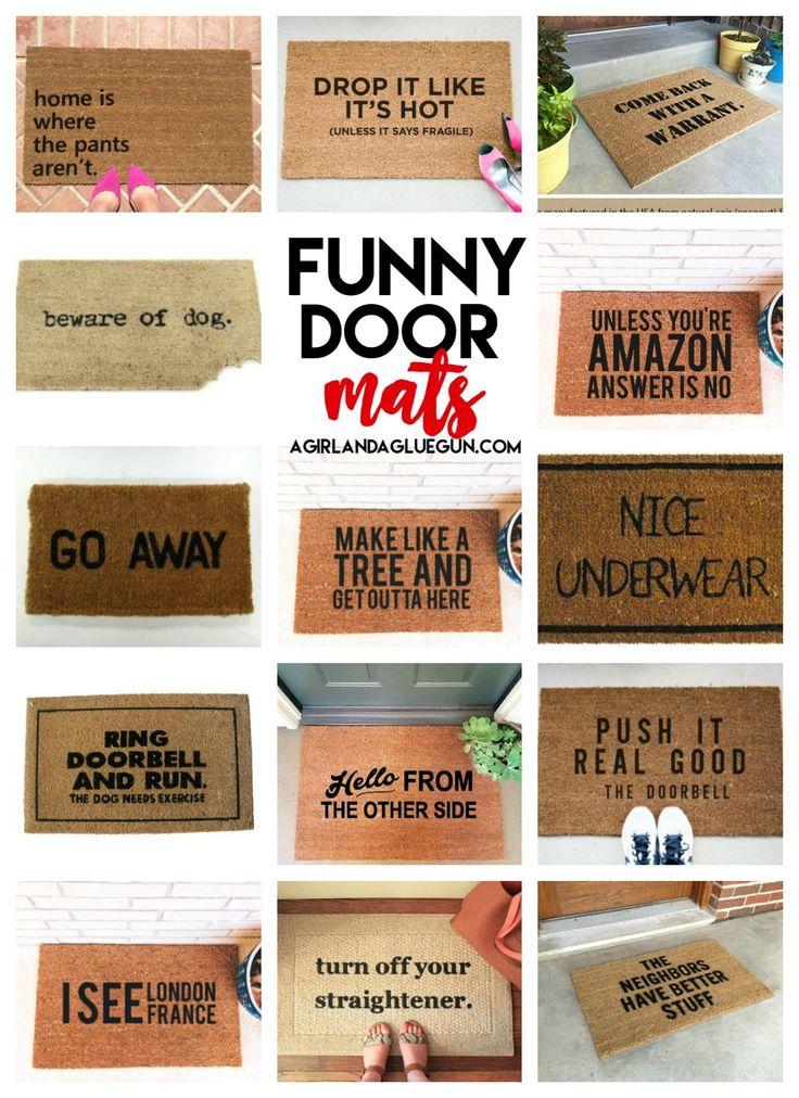 I'm pretty sure I need a new door mat.... - A girl and a glue gun
