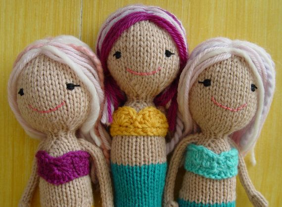 Free Knitting Pattern Mermaid Doll : 56 best images about Hope Chest Toys on Pinterest Toys, Tiny tears doll and...