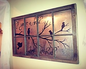 Easy and Cheap Window DIY art.