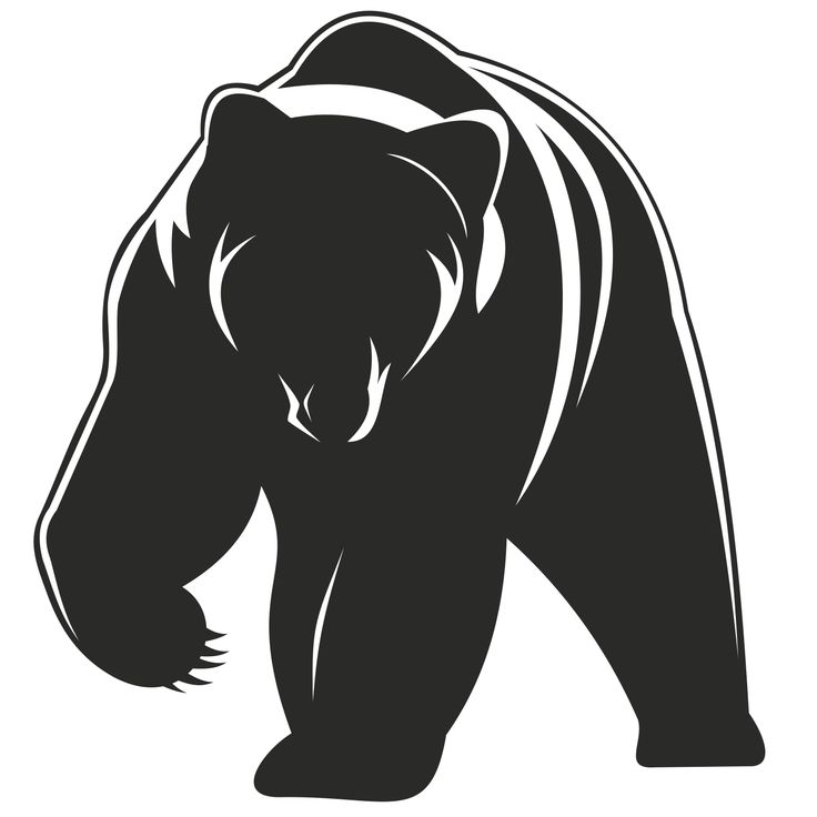 Pics For > Standing Grizzly Bear Vector                                                                                                                                                                                 More