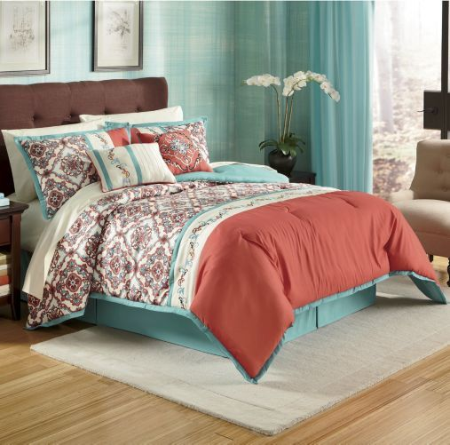 Callie Embroidered Comforter Set from Montgomery Ward