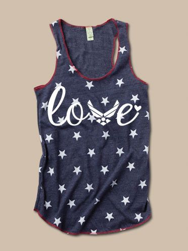 Air Force Love - Stars Tank OMG OMG OMG WHERE DO I GET THIS I NEED IT NOW AHHHH PLEASE COMMENT IF U KNOW WHERE TO GET IT