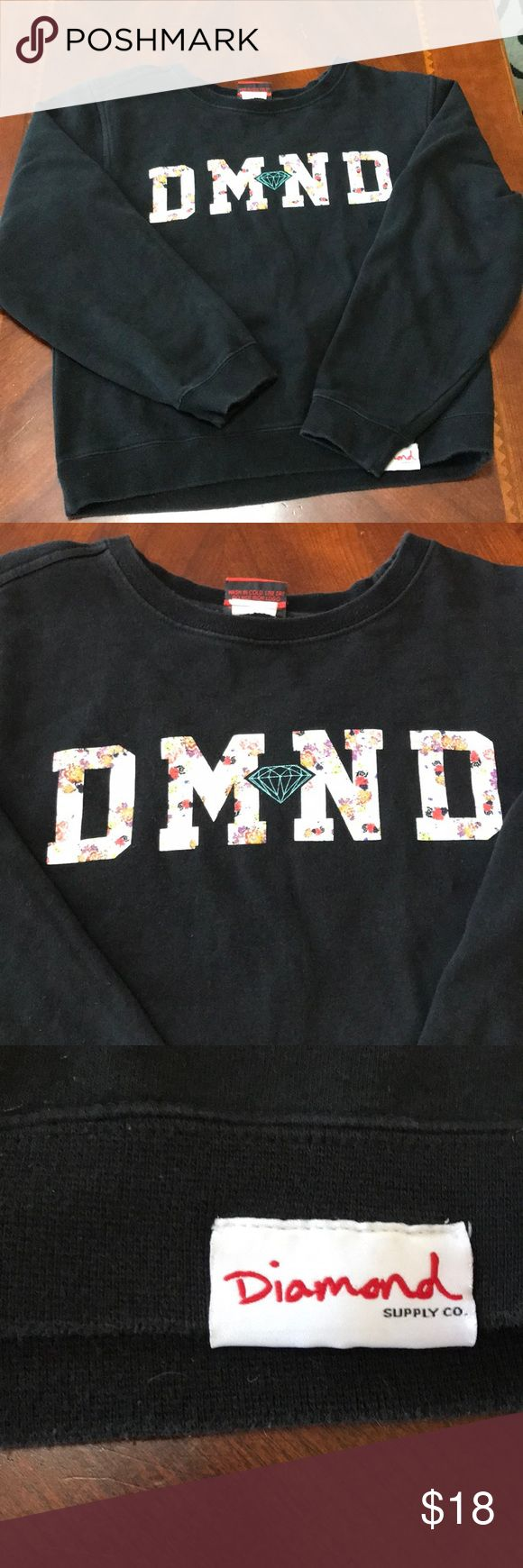 Diamond Supply Company Sweatshirt Diamond Supply Company Sweatshirt. In good but used condition. I love the 💎 print on the sleeve! Great Sweatshirt! Diamond Supply Co. Tops Sweatshirts & Hoodies