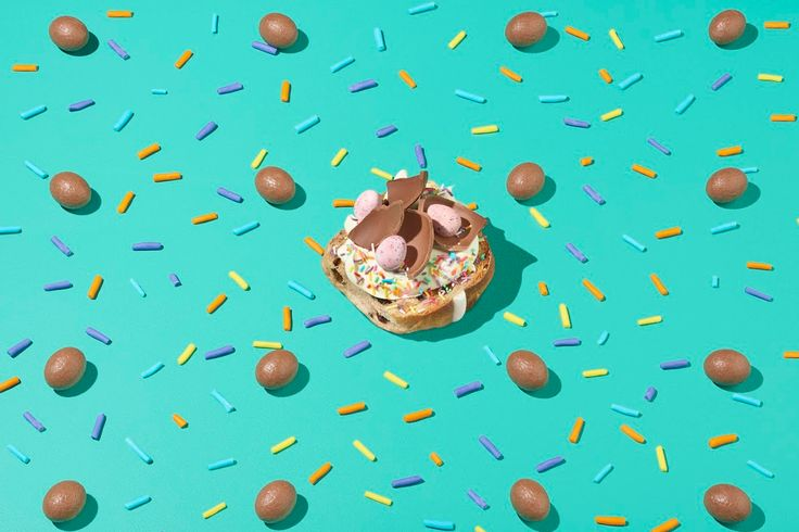 Crushed Easter eggs, cream and sprinkles. It's a party of flavour and decadent joy!