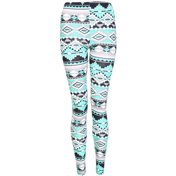 Multicolour Aztec Print Leggings (14 CAD) ❤ liked on Polyvore featuring pants, leggings, bottoms, jeans, checked leggings, multi colored leggings, colorful aztec leggings, checkerboard leggings and multi color pants