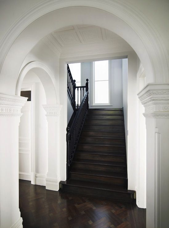 Back Kitchen Stairs ~ Pilasters ~ Columns