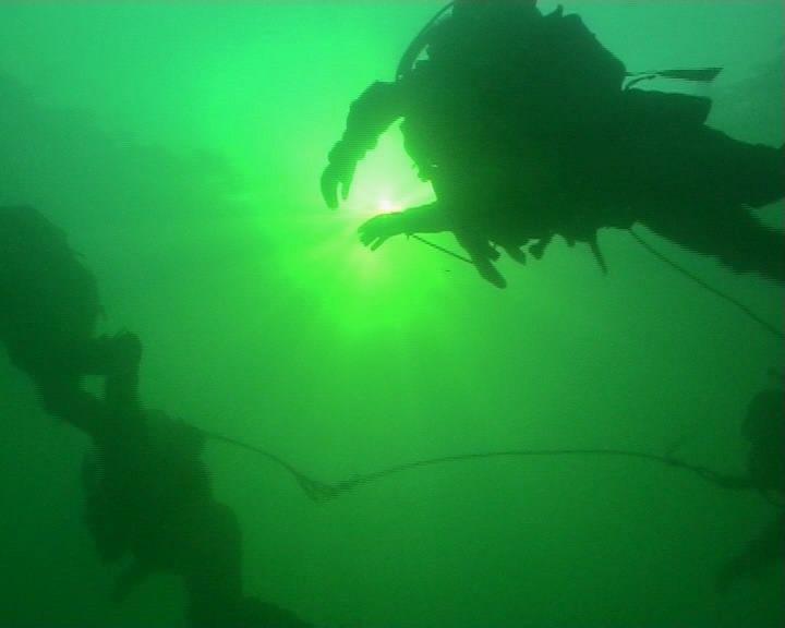 Attackdykare under dykning