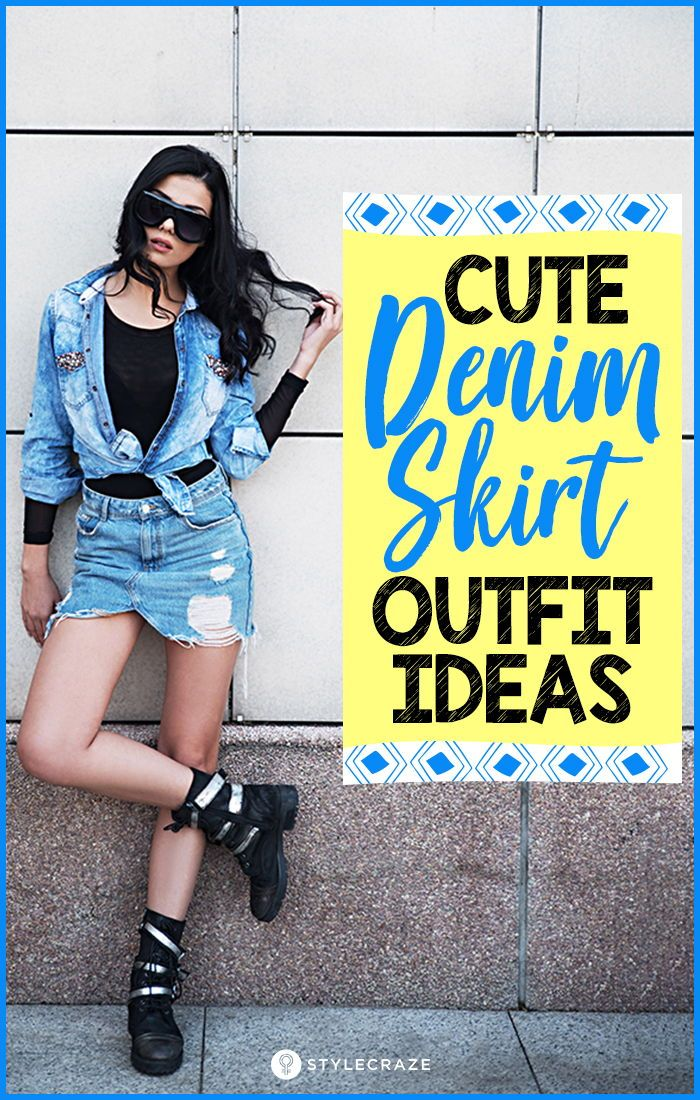 bcb71424d246 Cute Denim Skirt Outfit Ideas – 18 Different Ways To Style It #womens  #fashion #denim #skirt #outfit