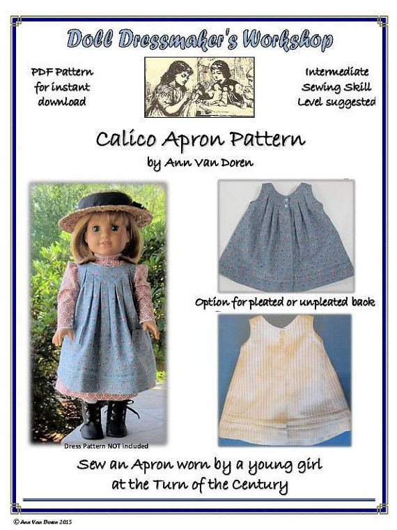 PDF Pattern for Edwardian style Calico Apron by AnnVanDorenDesigns