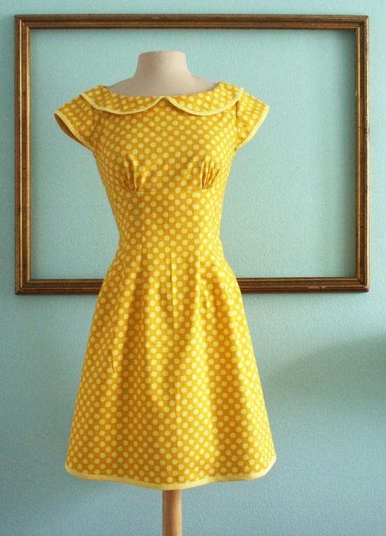 retro dress; love the cheerful color!