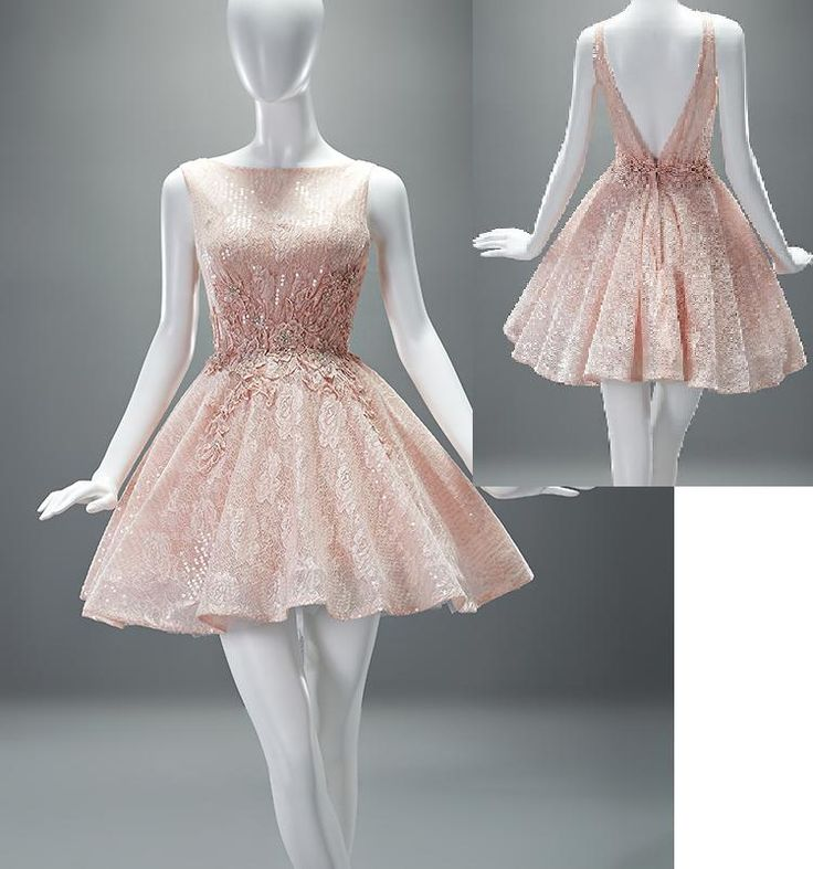 2015 New Custom Made Mini Length Fashion Short Ladies Pink Lace Beaded Applique Cocktail Party Dresses