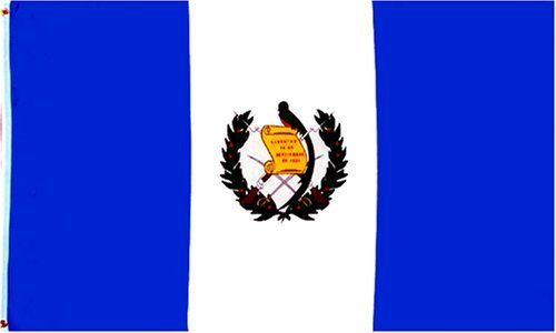 Guatemala Flag 3 x 5 Brand NEW 3x5 foot Guatemalan Flag by Finaday. $1.45. Indoor Flag. Pole Hem (Sleeve). This 3x5 foot Guatemala flag With Seal is made from 100 DuPont SolarMax nylon fabric with a pole hem designed to slip over an indoor or parade flagpole. A leather tab is used to attach the flag to the flagpole. Made in the U.S.A.
