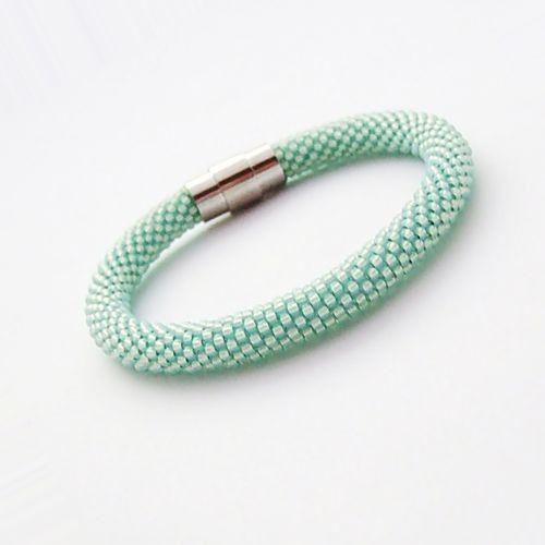 Bransoletka wąż miętowa - Bransoletki - Biżuteria artystyczna