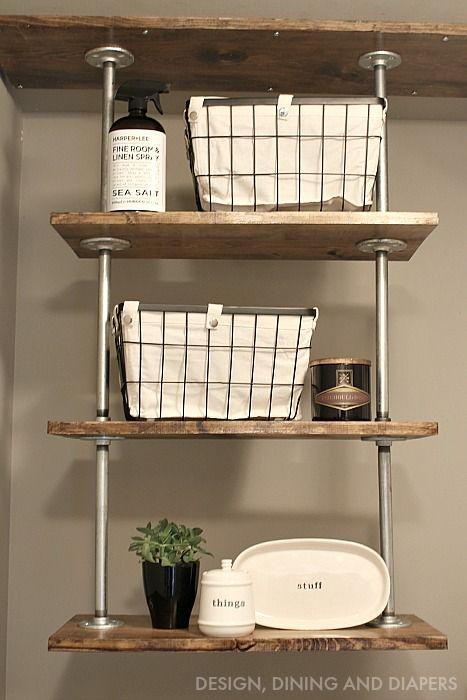 Best 25 laundry room shelving ideas on pinterest for Open shelving laundry room