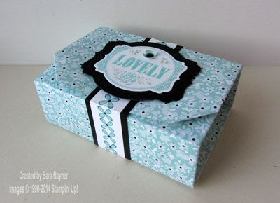 SAB You're lovely origami box - Stampin' Up!