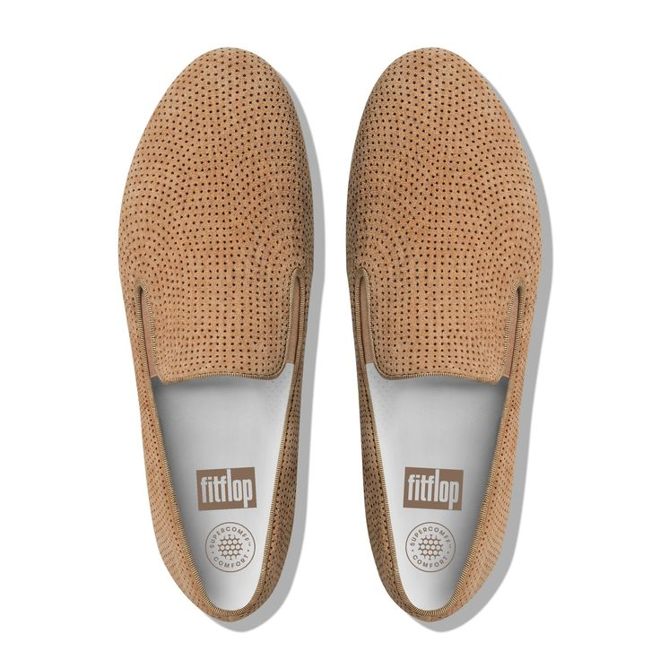 FitFlop Superskate Perf Suede Loafers Soft Brown FitFlop Official Online Store