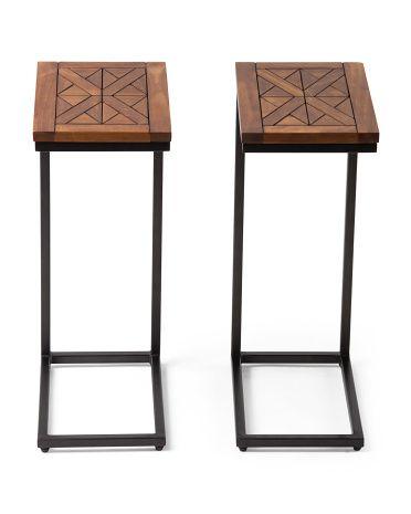 Set of 2 pine solid c tables famliy room pinterest for Rtu 5th sem time table