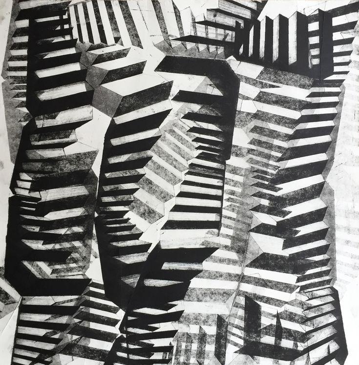 Cecilie Enevold Nielsen – Untitled. Tapetryk, 48 x 48 cm. Pris: 1.200 kr.