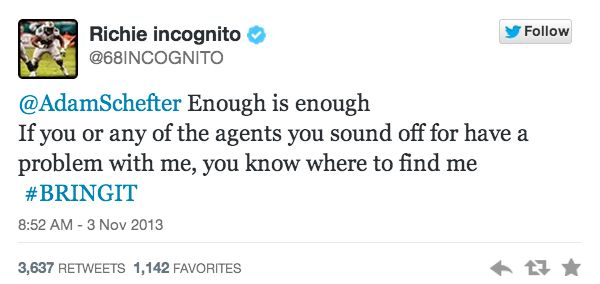 The Curious Case of Richie Incognito: A Social Spin - Click to read!
