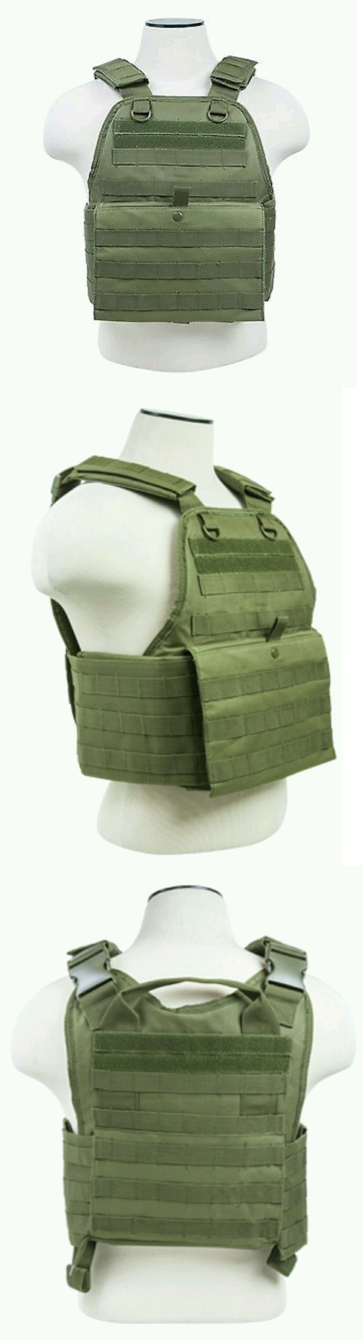 Chest Rigs and Tactical Vests 177891: Vism Tactical Molle/Pals Body Armor Plate Carrier Chest Rig Vest Operator Od Grn BUY IT NOW ONLY: $49.95