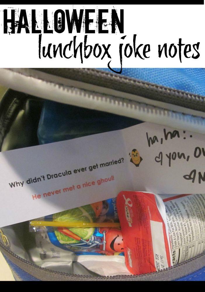 halloween lunchbox joke notes
