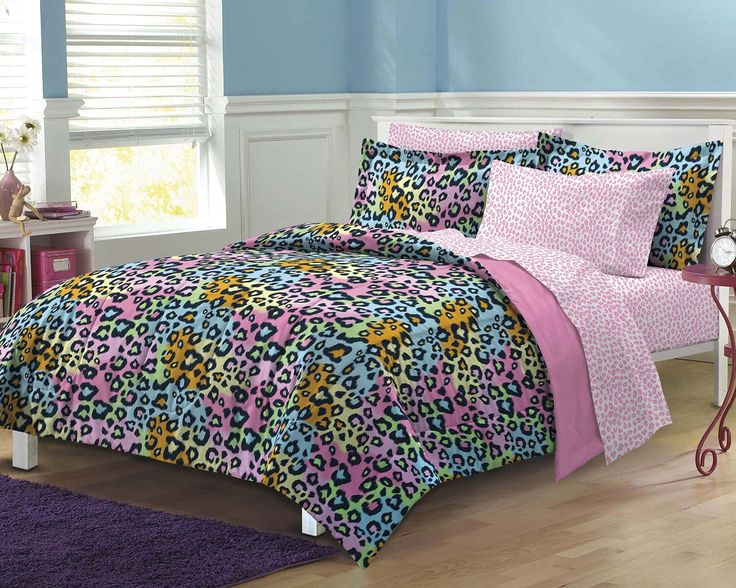 Top 25 ideas about girls comforter sets on pinterest girl bedding comforters and floral comforter - Cheetah bedspreads ...